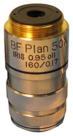 Meiji MA811 BF Semi Plan achromat objective 50X