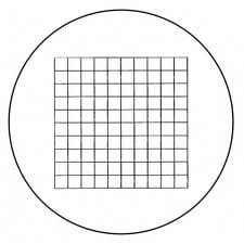 Meiji MA510 10mm square divided into 100 parts