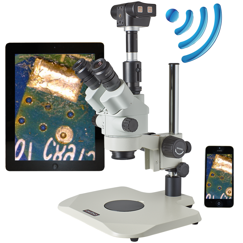 OM2300S-V3-AIR 6.5X-45X Video Inspection System with WiFI Camera