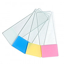 Omano 50 Blank Slides, Color Frosted, Pink