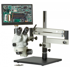CX3-2300S-V7 7.5X-45X Zoom Stereo Microscope Inspection System