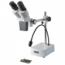 OM-B10-L LED 10X or 20X Integrated Boom Stereo Microscope for PCB Repair