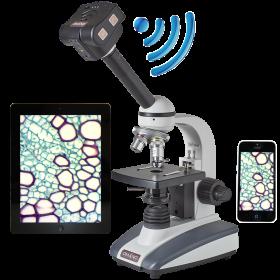 OM136C 40X-400X Student Compound Microscope with 5.0MP WiFi Digital Camera