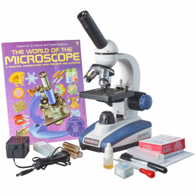 OM150-MK  40X-400X Premium Monocular Compound LED Student Microscope Gift Package