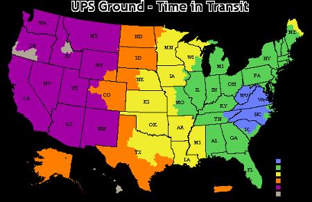 US Shipping Chart
